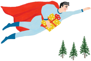 Illustration of a superhero