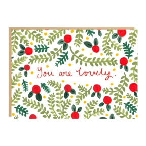 """You are lovely"" - Knope card"